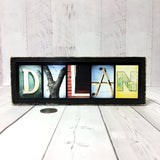 Child Name Sign, Boy or Girl Name Wood Sign, Photo Letter Art, Baby Gift