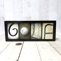Golf Sign, Gifts for Him, Fathers Day Gift, Gift for Dad, Custom Golf Name Sign