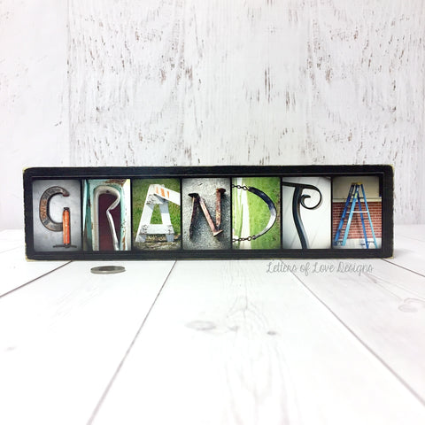 GRANDPA Wood Sign, Father's Day Gift