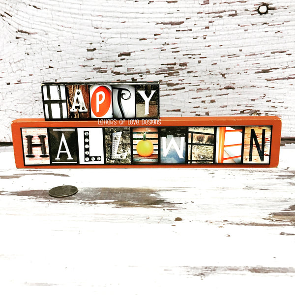 Thankful Wood Sign, Thanksgiving Decor, Orange Fall Autumn November