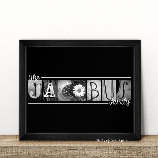 Last Name Family 8x10 inch Photo Print - Optional Framing