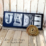 Bridesmaid & Flower Girl Name Wood Signs - Custom Wedding Party Gifts