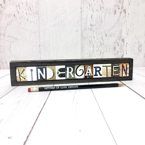 Kindergarten Teacher Gift, First Day of School Sign, Classroom Sign, Back to School