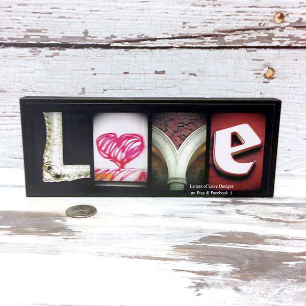 LOVE Wood Sign, Original Photo Letter Art, Alphabet Photography