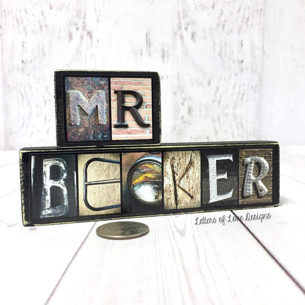 Teacher Gift, Personalized Teacher Name Sign, Classroom Decor, Letters