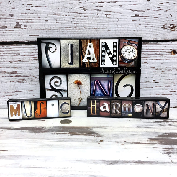 Musician Gift, Singer Gift, Sing Wood Sign, Music, Piano, Harmony Art