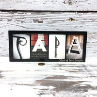PAPA Wood Sign, Father's Day Gift