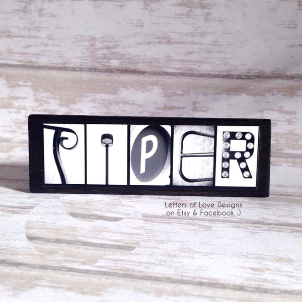Custom Name Refrigerator Wooden Magnets - Wedding Birthday Flower Girl Bridesmaid Gift