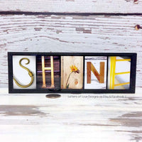 You are my Sunshine Wood Sign, Yellow Shine Art Spark Joy - Free Shipping