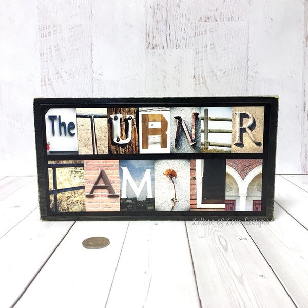 Name Sign - Last Name Wood Sign, Custom Name Sign, Personalized Name Signs