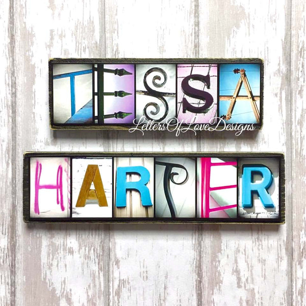 Name Refrigerator Wooden Magnets - Custom Child or Adult Wood Gift