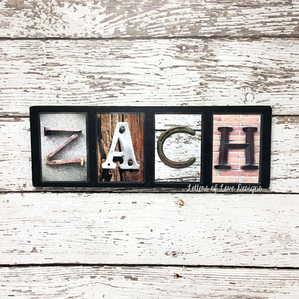 Personalized Last Name Sign, Large Custom Name Photo Letter Art, Alphabet Photography