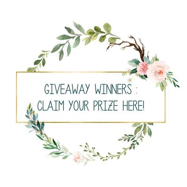 Giveaway Winners : Claim Your Prize Here !
