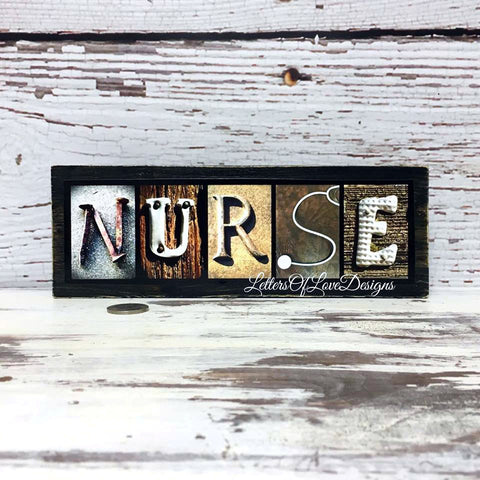 Nurse Gift - Nurse Wood Sign, Nurse Graduation Gift, Nurse Gift Idea