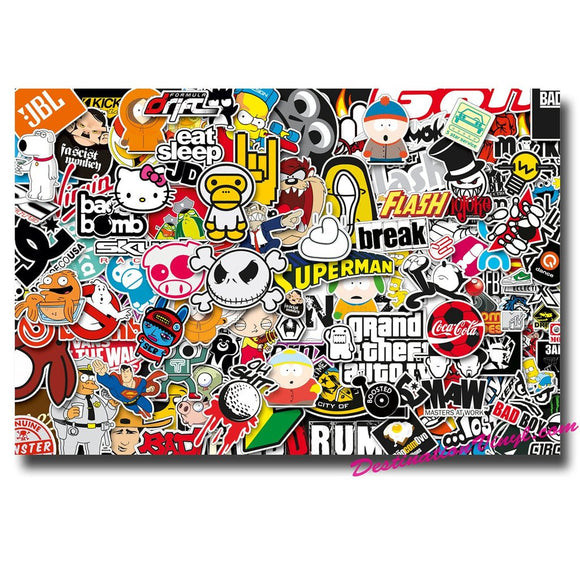 A4 Sheet Sticker Bomb Vinyl Wrap #0090