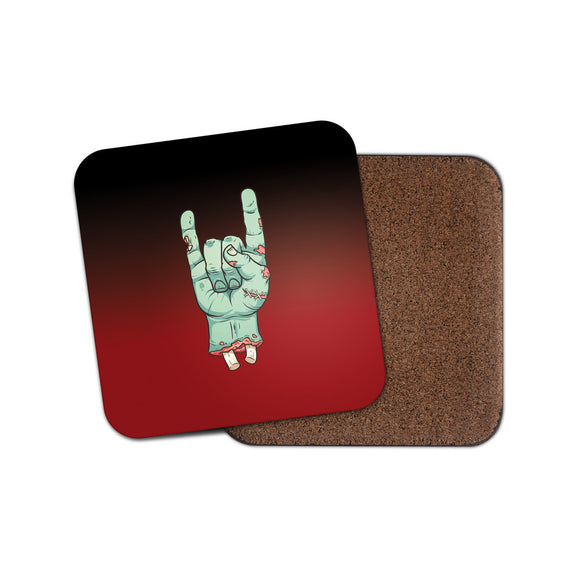 Zombie Hand Drinks Coaster Mat Square Cork Backed Tea Coffee #0106