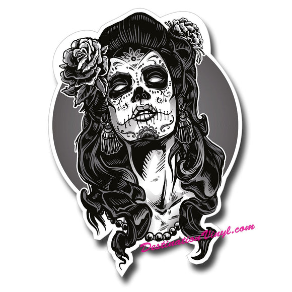 Sugar Skull Face Lady Girl #0110