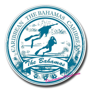 2 x Bahamas Scuba Diving Diver Vinyl Sticker #0162