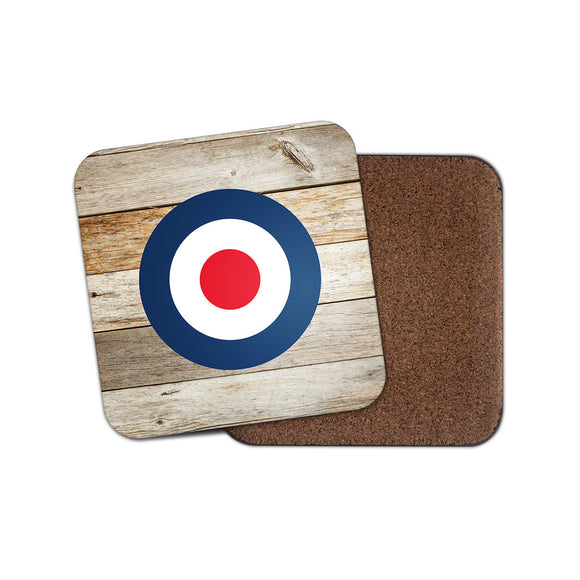 RAF Roundel The Who Mod Drinks Coaster Mat Square Cork Backed Tea Coffee #0215