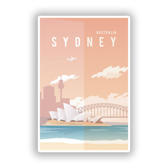 2 x Sydney Australia Vinyl Stickers Travel Luggage #10001