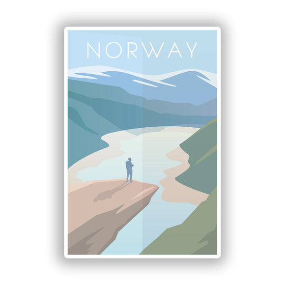 2 x Norway Vinyl Stickers Travel Luggage #10002