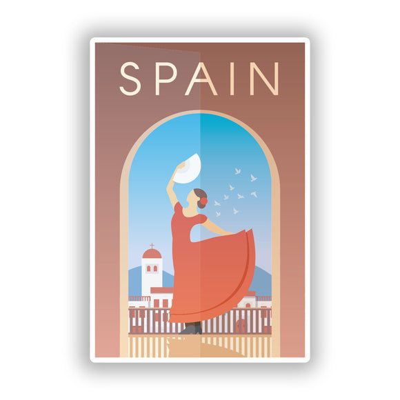 2 x Spain Vinyl Stickers Travel Luggage #10003