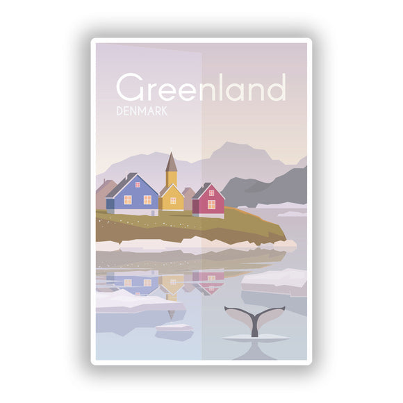 2 x Greenland Denmark Vinyl Stickers Travel Luggage #10007