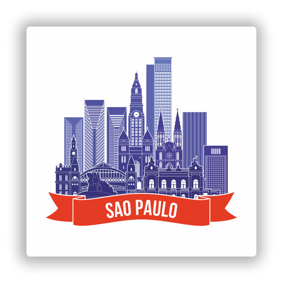 2 x Sao Paulo Brazil Vinyl Stickers Travel Luggage #10018