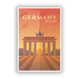 2 x Germany Berlin Vinyl Stickers Travel Luggage #10022