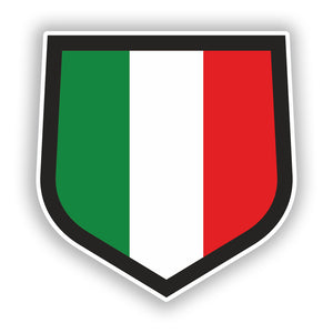 2 x Italian Flag Vinyl Stickers Travel Luggage #10031