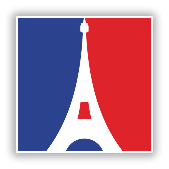 2 x France Flag Vinyl Stickers Travel Luggage #10037