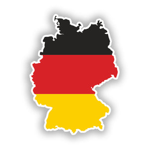 2 x Germany Flag Vinyl Stickers Travel Luggage #10038