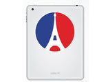 2 x Round France Flag Vinyl Stickers Travel Luggage #10039