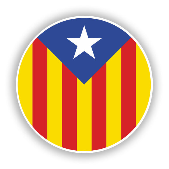 2 x Catalonia Flag Vinyl Stickers Travel Luggage #10040