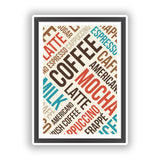 2 x Coffee Shop Vinyl Sticker Business Americano Cappuccino #10043
