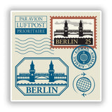 2 x Berlin Mixed Stamps Vinyl Stickers Travel Luggage #10047
