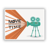 2 x Movie Time Vinyl Stickers Travel Luggage #10055