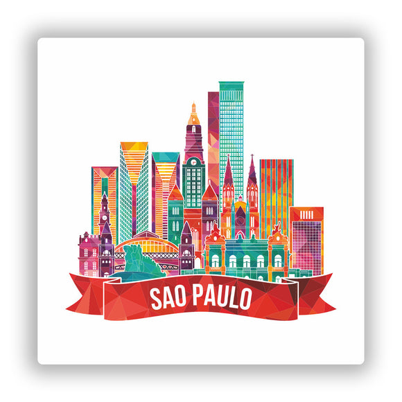2 x Sao Paulo Brazil Vinyl Stickers Travel Luggage #10059