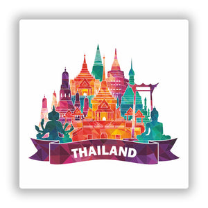 2 x Thailand Skyline Vinyl Stickers Travel Luggage #10062