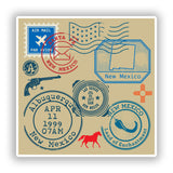 2 x New Mexico Mixed Stamps Vinyl Stickers Travel Luggage #10072