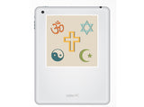 2 x Religious symbols Vinyl Stickers Travel Luggage #10088