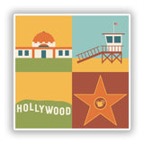 2 x Hollywood Vinyl Stickers Travel Luggage #10097