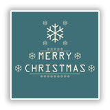 2 x Merry Christmas Vinyl Stickers Decoration Window Sticker #10098