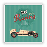 2 x Vintage Racing 1932 Vinyl Stickers Travel Luggage #10099