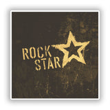 2 x Distressed Rock Star Vinyl Stickers Travel Luggage #10102