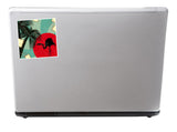 2 x Distressed tropical island Vinyl Stickers Travel Luggage #10103