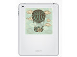 2 x Vintage hot air balloon Vinyl Stickers Travel Luggage #10104