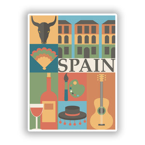 2 x Spain Vinyl Stickers Travel Luggage #10107