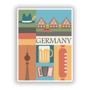 2 x Germany Vinyl Stickers Travel Luggage #10108