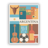 2 x Argentina Vinyl Stickers Travel Luggage #10109